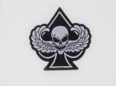 WINGED DEATHS HEAD ON ACE 3D EFFECT FRIDGE MAGNET